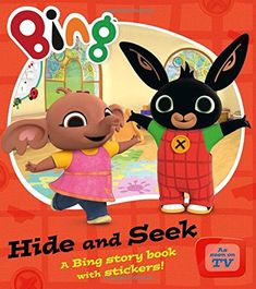 TV Tie-In Bing: 'Hide and Seek' story and sticker book Bing Bunny, Parent Club, Blue Peter, Toilet Training, Story Time, Pikachu, Product Launch, Nursery, Stickers