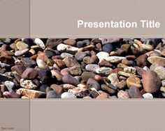 Free beach stones PowerPoint template background