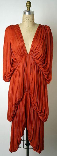 Dress  Norma Kamali (American, born 1945)  Date: 1978 Culture: American Medium: silk. Front