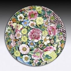 Chinese Porcelain Plate, Famille Rose Mille Fleur