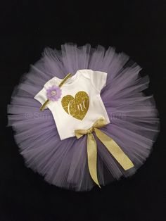 First Birthday Purple Tutu Set by SimplyTooCuteCouture on Etsy