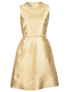 gold braid dress | valentino
