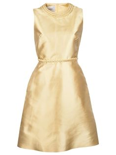 gold braid dress | valentino