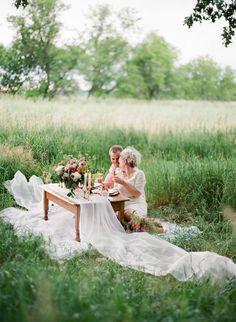 dreamy dinner in a field | The McCartneys