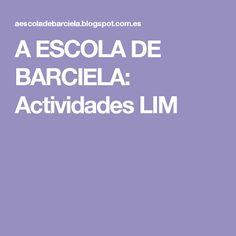 A ESCOLA DE BARCIELA: Actividades LIM School, Activities, Hipster Stuff