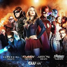 The CW& 2017 crossover between Supergirl, Arrow, The Flash, and DC& Legends of Tomorrow is set to premiere this November over two nights! The Cw, John Wesley Shipp, Gotham, Supergirl Tv, Supergirl And Flash, Supergirl Season, Supergirl Series, San Diego Comic Con, Arrow Flash