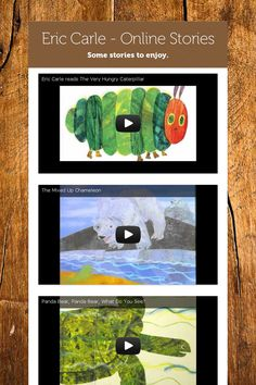 "Eric Carle - Online Stories .......Follow for Free ""too-neat-not-to-keep"" teaching tools & other fun stuff :)"