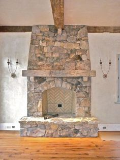 Rustic Fireplace Decor Ideas (12)