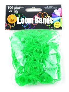 Loom Bands Neon Gel Green | Loom Bands & Accessories #loom #diy #loombands #bright