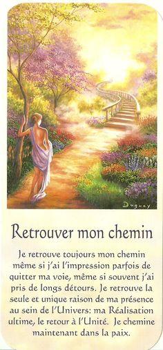 Mario Duguay- Message Lumière Retrouver mon chemin Vie Positive, Positive Mind, Positive Affirmations, Positive Thoughts, Messages Spirituels, Reiki, Spiritual Power, Spiritus, Affirmation Cards
