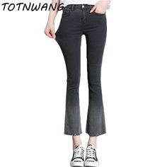 High Elastic Jeans For Women Hot Sale American Style Skinny High Waist Jeans Flare Denim Pants Fashion Pantalones Vaqueros Mujer