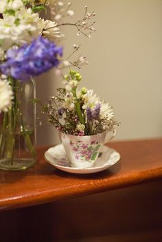 Flowers in a teacup  Hamish and Cassandra ~ The Wedding