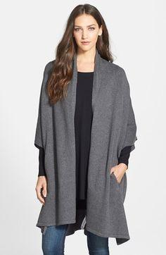 Eileen Fisher Kimono Sleeve Knit Cape | Nordstrom