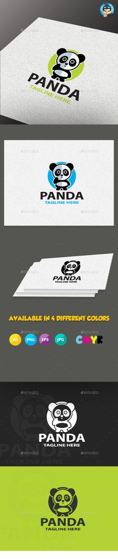 Panda Logo Templates by pasilan LOGO TEMPLATE Logos are vector based built in Illustrator software. They are fully editable and scalable without losing resoluti