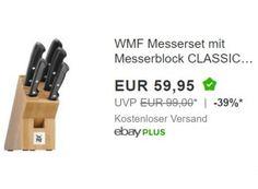 """WMF: Messerset Classic Line für 59,95 Euro frei Haus https://www.discountfan.de/artikel/essen_und_trinken/wmf-messerset-classic-line-fuer-5995-euro-frei-haus.php Das """"WMF Messerset Classic Line"""" ist jetzt bei Ebay als """"Wow! des Tages"""" zum Schnäppchenpreis von 59,95 Euro frei Haus zu haben. In anderen Shops kostet das Set mit fünf Messern derzeit mindestens 72,99 Euro. WMF: Messerset Classic Line für 59,95 Euro frei Haus (Bild: Eb... #Messer, #Me"""