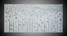 Abstract Modern Acrylic Painting Art Deco Birch by acrylkreativ, $299.00