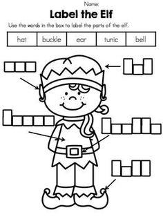 Christmas Kindergarten Vocabulary Activities