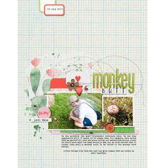 Monkey Butt - Digital Scrapbook Page by scrappyJedi @thelilypadscrap