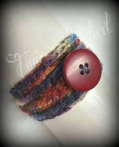 Crochet wrap bracelet boho by TwiceStitched on Etsy