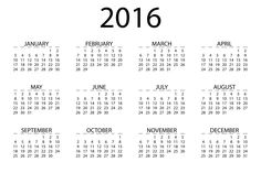 Calendar 2016 To Print | Activity Shelter