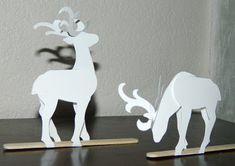 Effiloché noeud de laura: rennes en papier