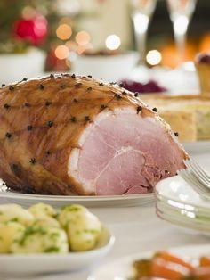 Gammon ham with pineapple juice glaze