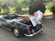 'oggi sposi' - beautiful vintage car used in a wedding at our resort #Tuscany #Italy