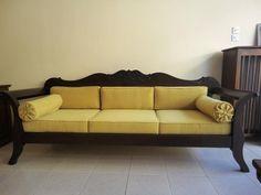 παραδοσιακός καναπές από ξύλο δρυς / traditional greek sofa / handcarved / unique design Sofa, Couch, Lounge, Furniture, Home Decor, Houses, Chair, Airport Lounge, Settee