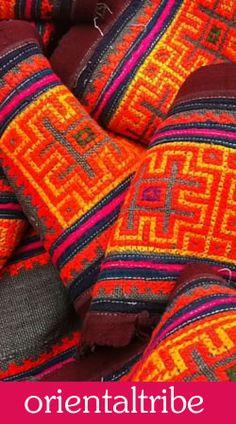 #hemp #embroidered #vintage #ethnic #grey #pink