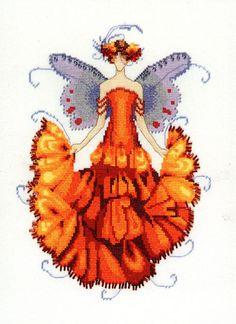 Marigold  Cross Stitch Chart by NeedleAndCrafts on Etsy