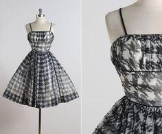 Deerstalker . vintage 1950s dress . vintage by millstreetvintage
