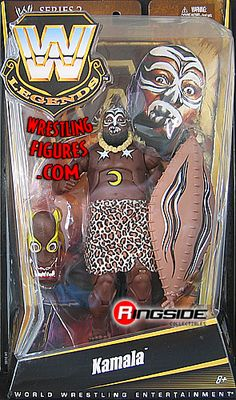 RINGSIDE COLLECTIBLES WWE Toys, Wrestling Action Figures, Jakks Pacific, Classic Superstars Action F: KAMALAWWE LEGENDS 2WWE Wrestling Action Figure