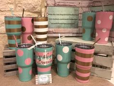 www.dirtnglitterboutique.com Custom powder coated YETI and RTIC cups!