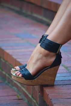 Buy fashion wedges shoes from shoespie. It offers you some cheap wedge shoes of different styles:printed wedge heels, strappy wedges boots, summer wedge sandals are standing for good quality. Cute Shoes, Women's Shoes, Wedge Shoes, Me Too Shoes, Shoe Boots, Strappy Shoes, Heeled Boots, Strappy Wedges, Black Wedges
