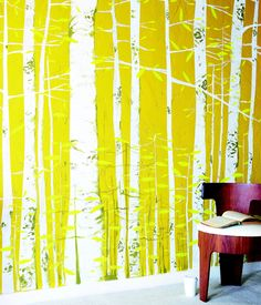 mural from denise schmidt's book print workshop. i want to do this in my living room!