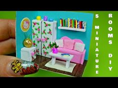 5 Diy Miniature Dollhouse Rooms │ Miniature rooms compilation │ Doll Stuff - YouTube