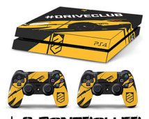 PS4 SKIN drive club + 2 controller sony playstation 4 sticker decal