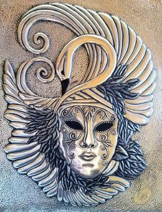 Cultural - Veldany Creations / Swan Mask 8x10 -Pewter