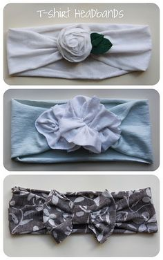 T-shirt headbands. DIY. Love these!! I want to make some for myself! omg love/