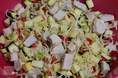 Chec aperitiv cu pui si legume - CAIETUL CU RETETE Feta, Dairy