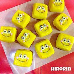 加工したらメッチャ黄色になったわ〜(๐ ́꒪̐ꈊ͒꒪̐)ꐳ 今回はキューブ型にしてみたら〜、スポンジボブになりました((✩´͈ૢ ᗨ `͈ૢ)アハッ♪ 息子の友達が来てたので少し持っていってもらいました♪(๑ᴖ◡ᴖ๑)♪ - 574件のもぐもぐ - スポンジボブのスイートポテト♡ by ひろりん