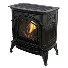Ashley Hearth Products Vent Free Natural Gas Stove Mahogany Enameled Porcelain Cast Iron is the perfect heating appliance for your living space. Natural Gas Stove, Natural Gas Fireplace, Artificial Fireplace, Propane Gas Stove, Gas Stove Top, Fireplace Insert Installation, Fireplace Inserts, Hobbit Wood Stove, Gas Stove Fireplace