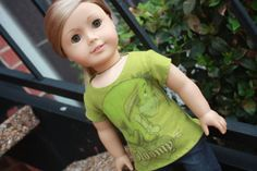 Green Gloomy Eeyore Tee for American Girl Dolls. by LostinaJungle, $8.50