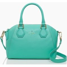 """Kate Spade NWT """"Mini Pippa"""" Mint Colored Bag This NWT Kate Spade bag is adorable! I love it, I just never reach for it, which is why it needs a new home. The color is """"fresh air"""" which is a mint color. Gold hardware. Has handles and removable shoulder strap. Perfect medium sized bag! kate spade Bags Mini Bags"""