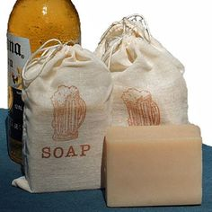 BEER Soap - Blonde Handmade Cold Process Soap Bar, 4oz - made with Corona