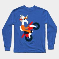 Unicorn Bike Long Sleeve T-Shirt