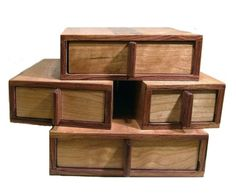 Box on Box jewelry box by TheNaturalHand on Etsy