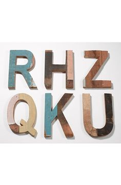 Decorative Wooden Letters & Numbers http://rstyle.me/n/djuvar9te