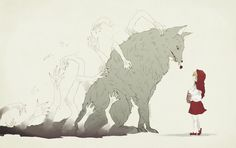 dear little red riding hood by nilampwns.deviantart.com on @DeviantArt This is amazing....