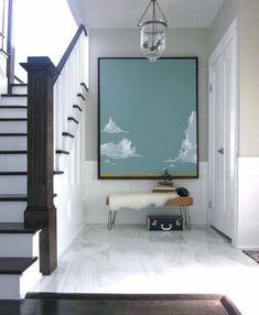treppenhaus eingangsbereich sitzbank #decoration #interior #poster